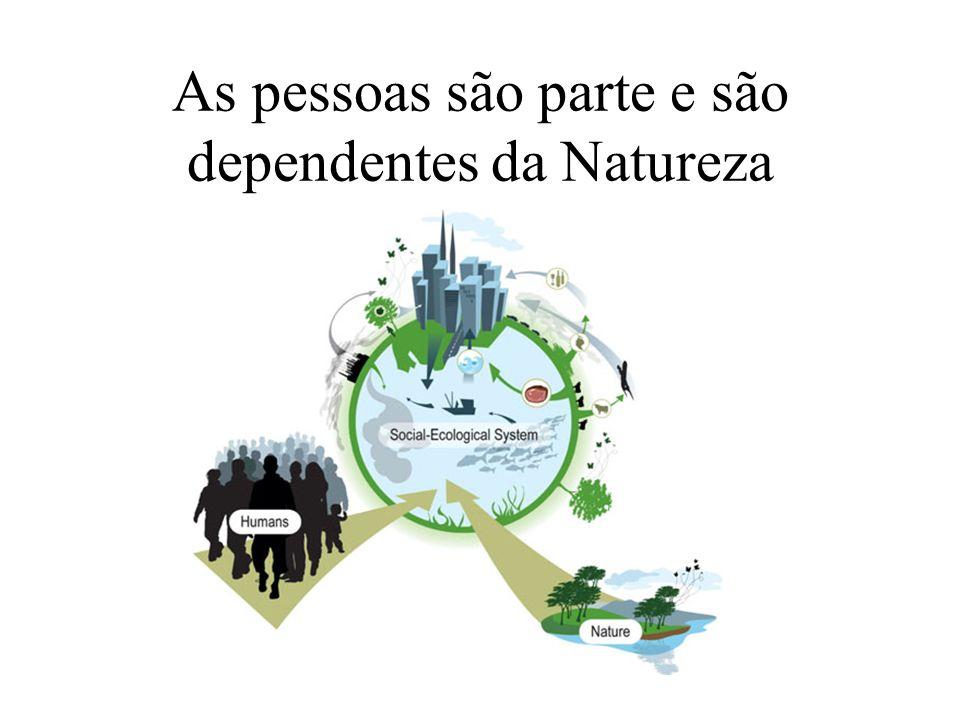 As pessoas são parte e são dependentes da Natureza
