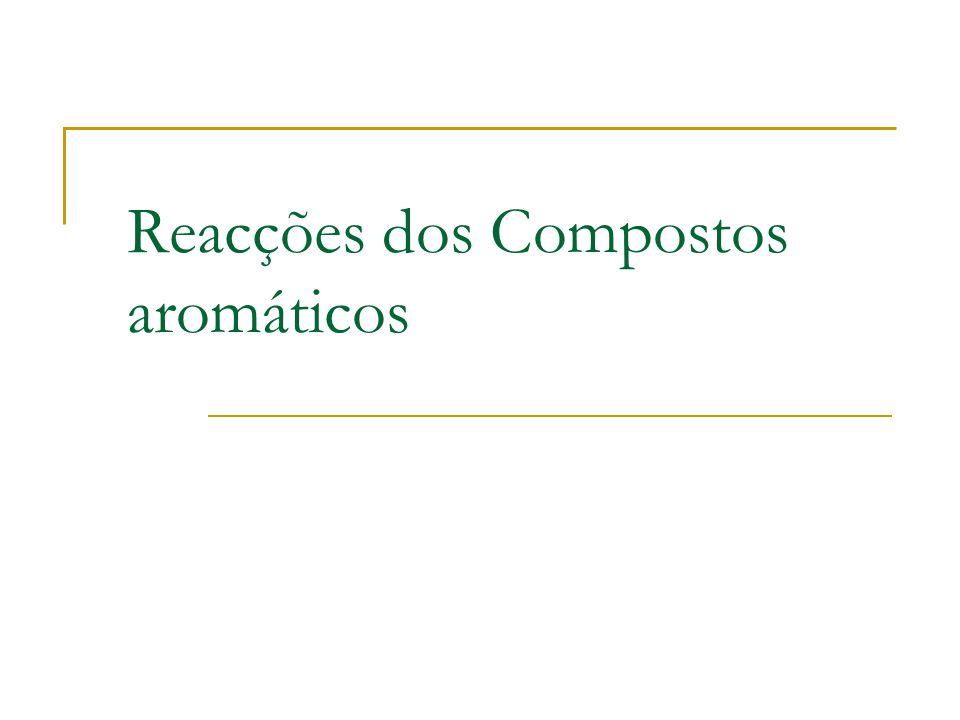 Reacções dos Compostos aromáticos