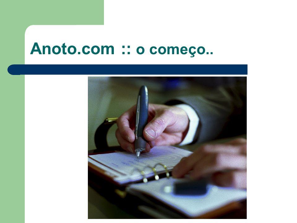 Anoto.com :: o começo..