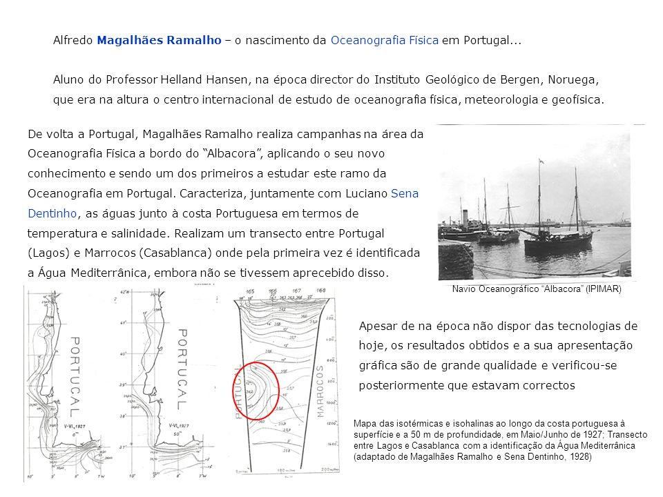 Alfredo Magalhães Ramalho – o nascimento da Oceanografia Física em Portugal... Aluno do Professor Helland Hansen, na época director do Instituto Geoló