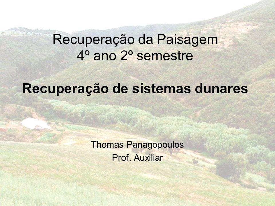 Recuperação da Paisagem 4º ano 2º semestre Recuperação de sistemas dunares Thomas Panagopoulos Prof.