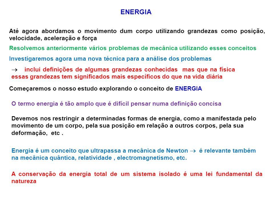 Para o sistema livro-Terra descrito anteriormente, a Terra desloca-se tão lentamente que praticamente a sua velocidade é nula e a energia cinética do sistema, é devido unicamente à energia cinética do livro assim Agora o nossa energia gravitacional final é e a energia gravitacional inicial é Comparando com o sistema livro-Terra que foi onde definimos a energia potencial gravitacional então escrevemos a equação na forma ou Definimos a soma das energias potencial e cinética como ENERGIA MECÂNICA Assim a equação (1) é uma formulação da CONSERVAÇÃO DA ENERGIA MECÂNICA CONSERVAÇÃO DA ENERGIA MECÂNICA