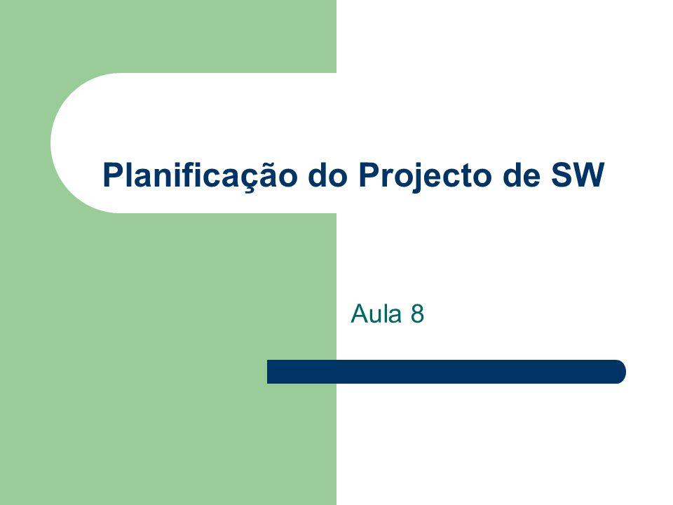 Planificação do Projecto de SW Aula 8