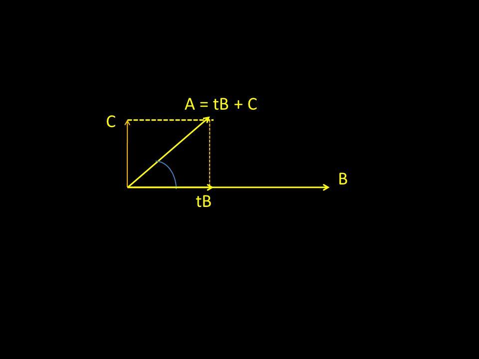 B A = tB + C tB C