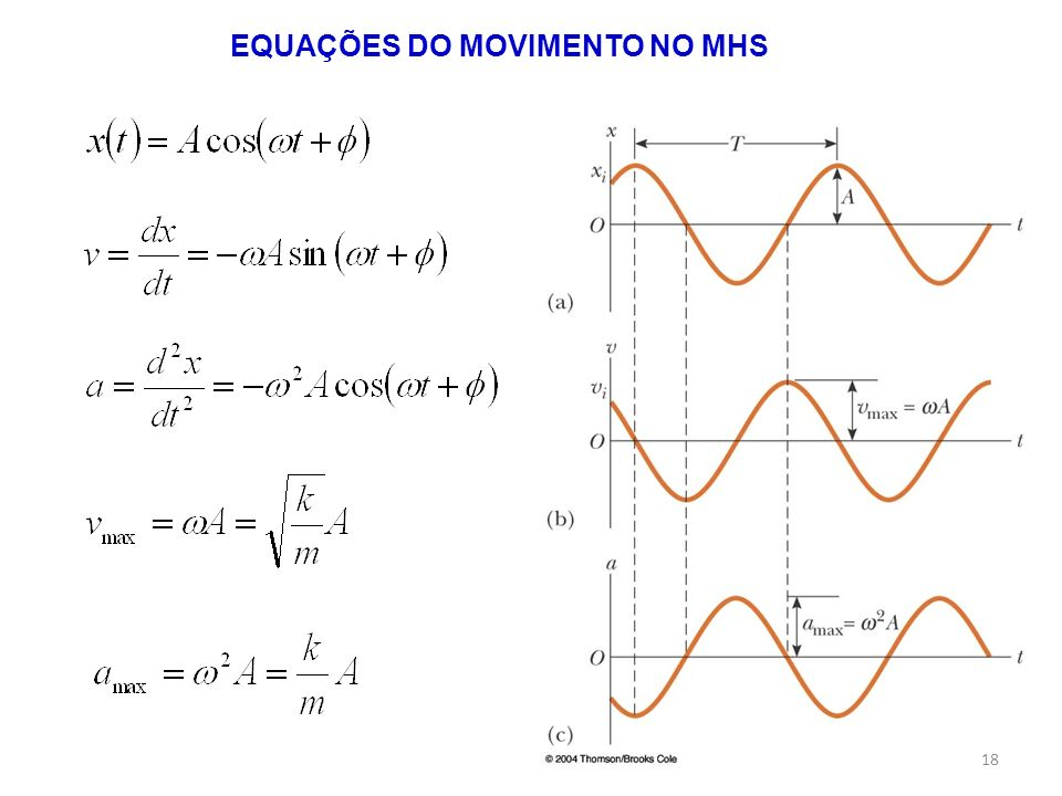 EQUAÇÕES DO MOVIMENTO NO MHS 18