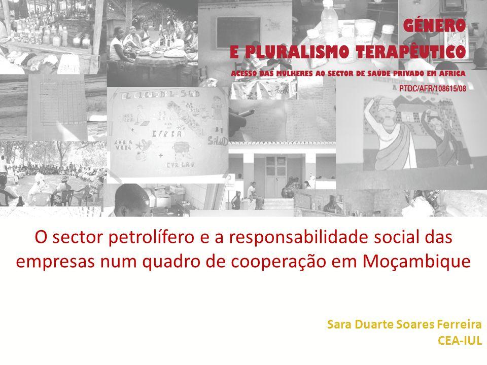 QUESTÃO DE PARTIDA OBJECTIVO PRINCIPAL: Como é formulado o novo quadro da cooperação através da intervenção de um novo actor – o sector privado – visualizado através dos projectos de RSE de uma empresa petrolífera em Moçambique.