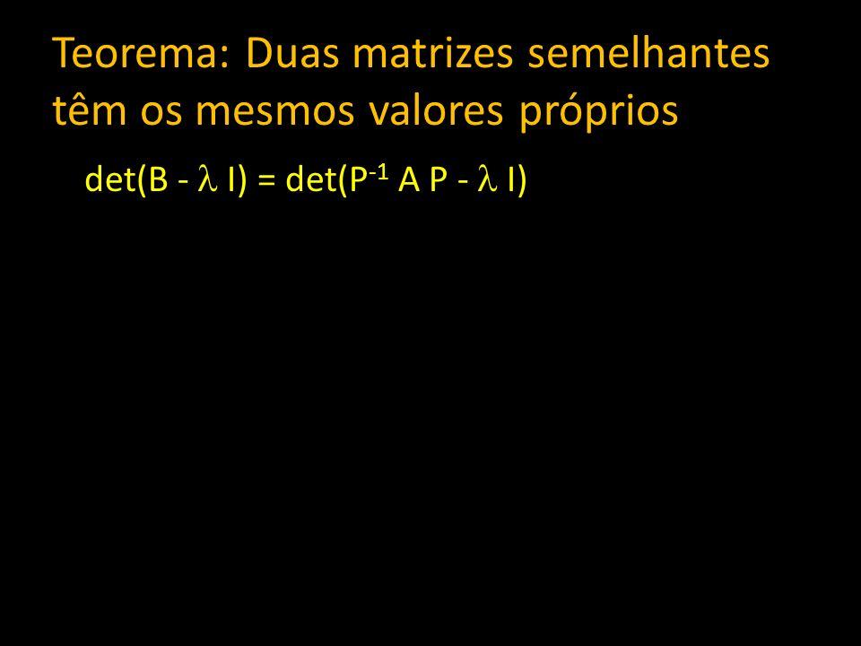 det(B - I) = det(P -1 A P - I)
