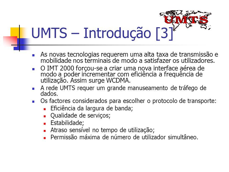 UMTS – Introdução [3] As novas tecnologias requerem uma alta taxa de transmissão e mobilidade nos terminais de modo a satisfazer os utilizadores. O IM