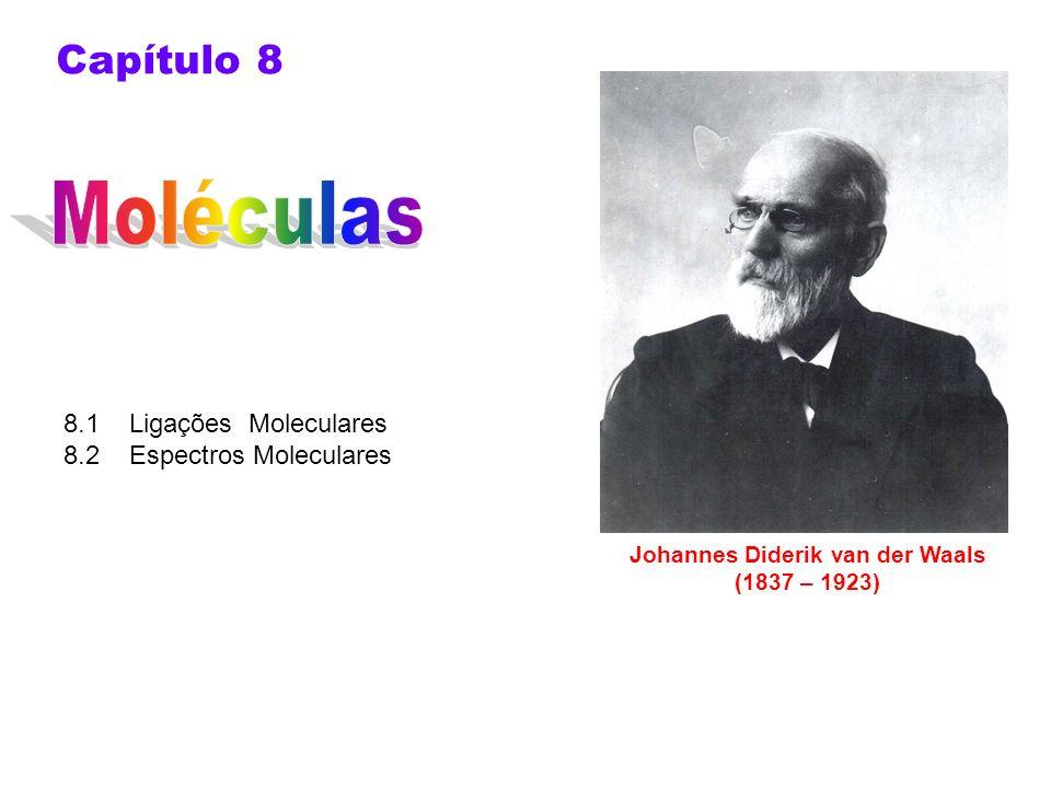 8.1 Ligações Moleculares 8.2 Espectros Moleculares Capítulo 8 Johannes Diderik van der Waals (1837 – 1923)