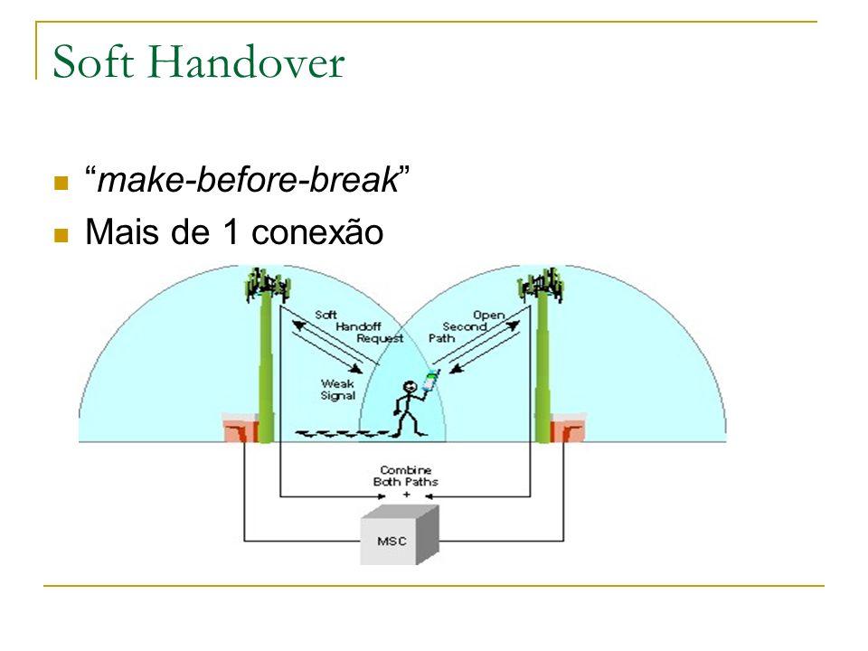 Soft Handover make-before-break Mais de 1 conexão