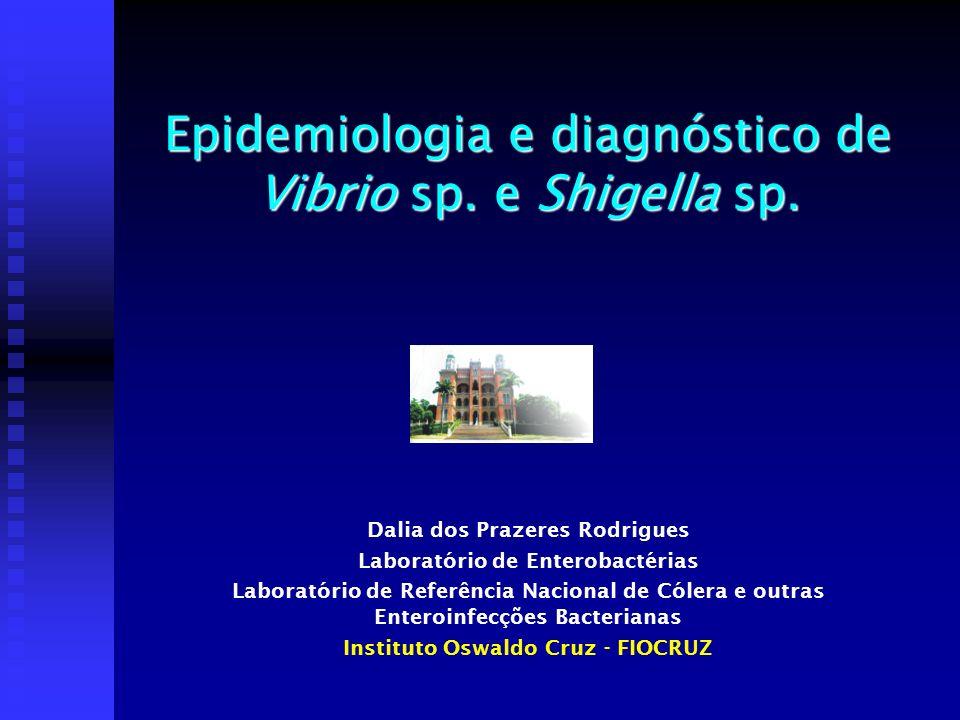 Epidemiologia e diagnóstico de Vibrio sp. e Shigella sp. Dalia dos Prazeres Rodrigues Laboratório de Enterobactérias Laboratório de Referência Naciona