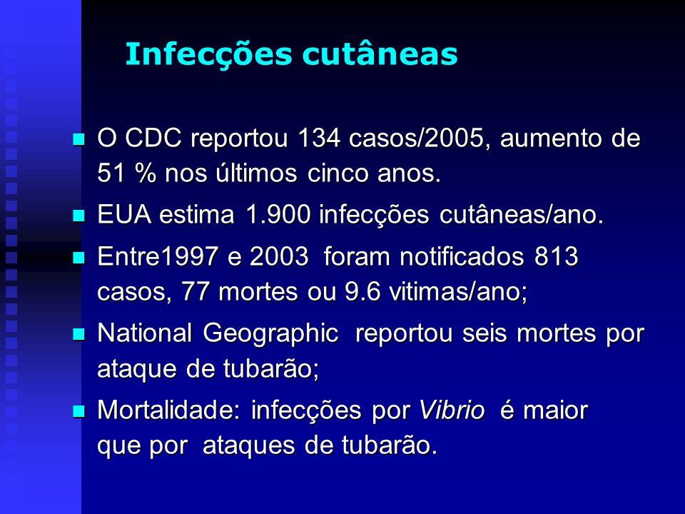 O CDC reportou 134 casos/2005, aumento de 51 % nos últimos cinco anos. O CDC reportou 134 casos/2005, aumento de 51 % nos últimos cinco anos. EUA esti