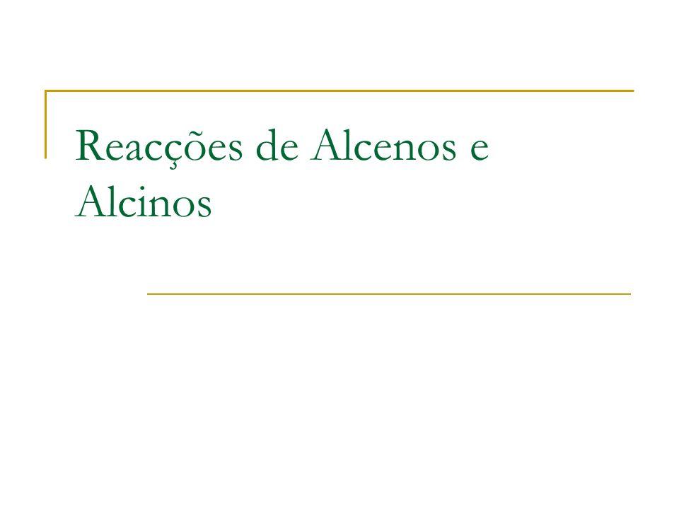 Reacções de Alcenos e Alcinos