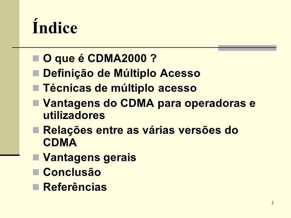 23 CDMA2000 Vantagens