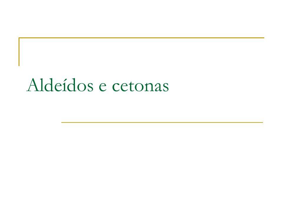 Aldeídos e cetonas