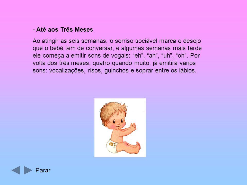 - Após o Nascimento Após o nascimento, o bebé tem necessidade de expressar as suas múltiplas necessidades com um leque de formas de comunicação muito