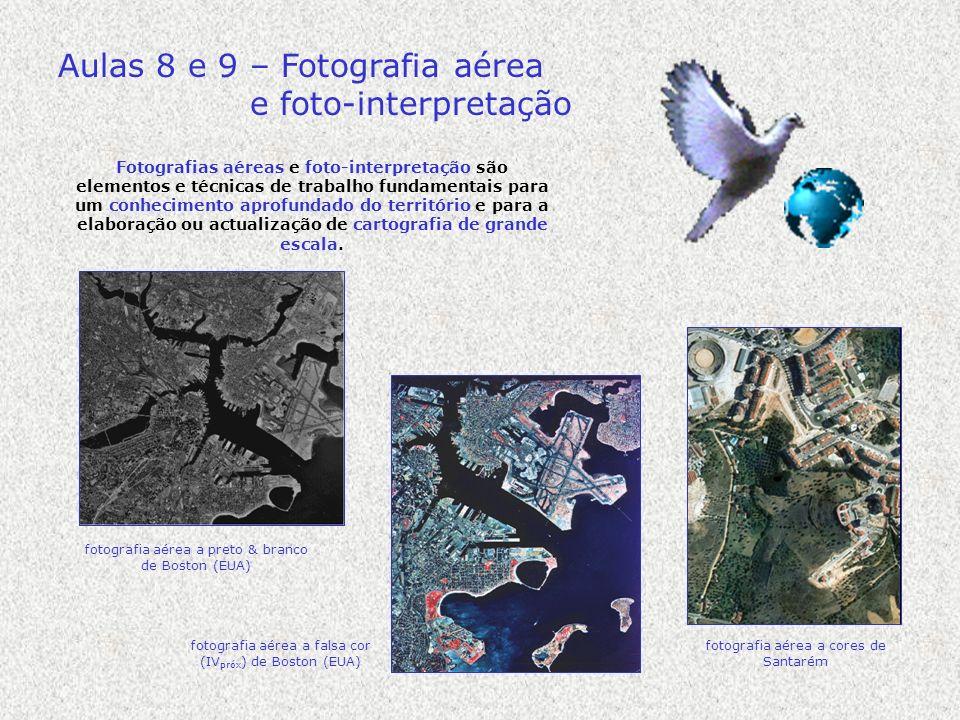 Aulas 8 e 9 – Fotografia aérea e foto-interpretação Fotografias aéreas e foto-interpretação são elementos e técnicas de trabalho fundamentais para um