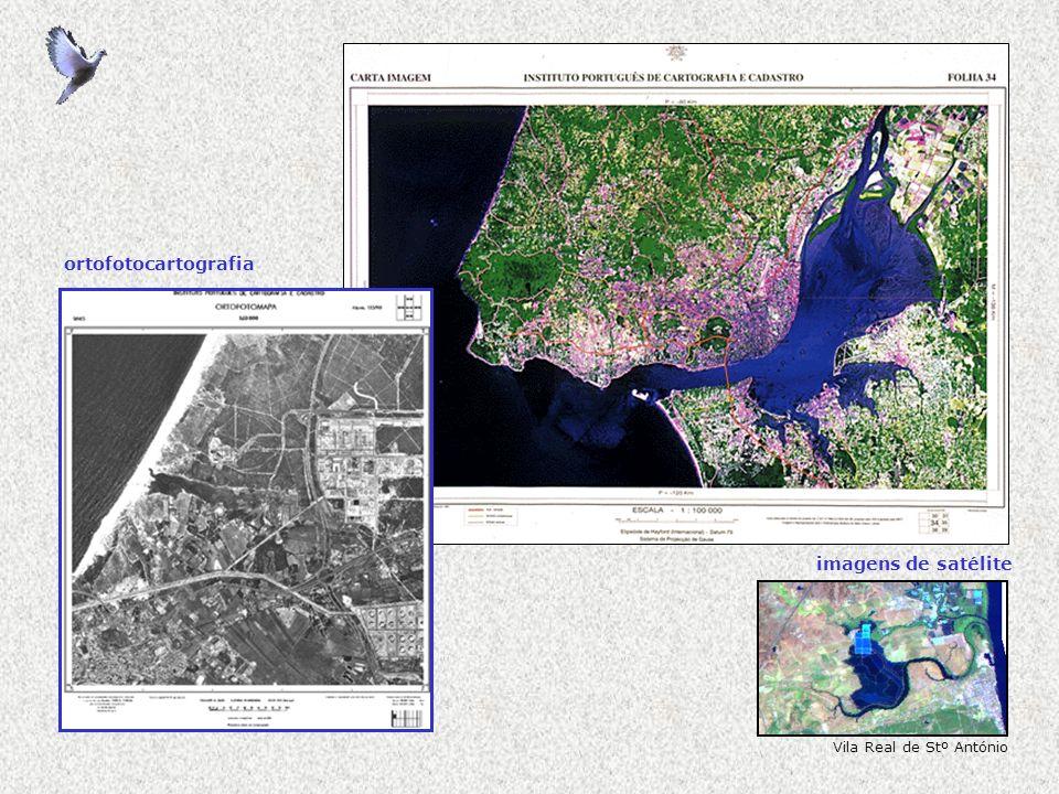 ortofotocartografia imagens de satélite Vila Real de Stº António