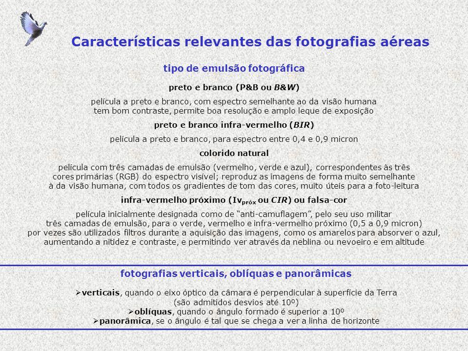 distorções e variações na escala das fotografias aéreas inclinação ou tilt numa fotografia vertical o tilt ou inclinação é a variação ângular entre a direcção do eixo da câmara fotográfica e a direcção da força de gravidade, no momento de exposição deriva e desvio resolução das fotografias aéreas as imagens fotográficas são compostas de pontos, os quais, em vocabulário informático, se designam por pixels a resolução das imagens é o número de pixels por unidade de área (pixels or dots per inch, ppi or dpi) quanto maior a resolução, maior é também o detalhe da informação, ou seja, menor é o mínimo objecto que pode ser identificado na imagem fotográfica paralaxe estereoscópica a observação de um mesmo ponto nas duas fotografias de um estereopar permite a percepção do relevo, através de um efeito óptico designado por paralaxe estereoscópia
