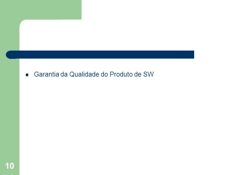 10 Garantia da Qualidade do Produto de SW
