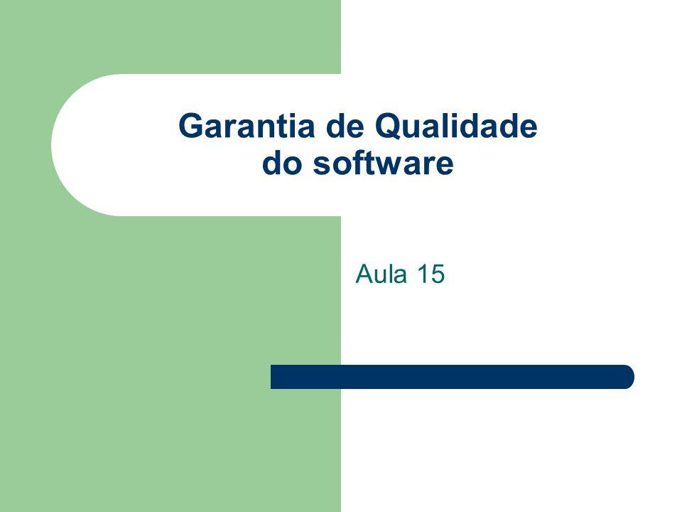 Garantia de Qualidade do software Aula 15