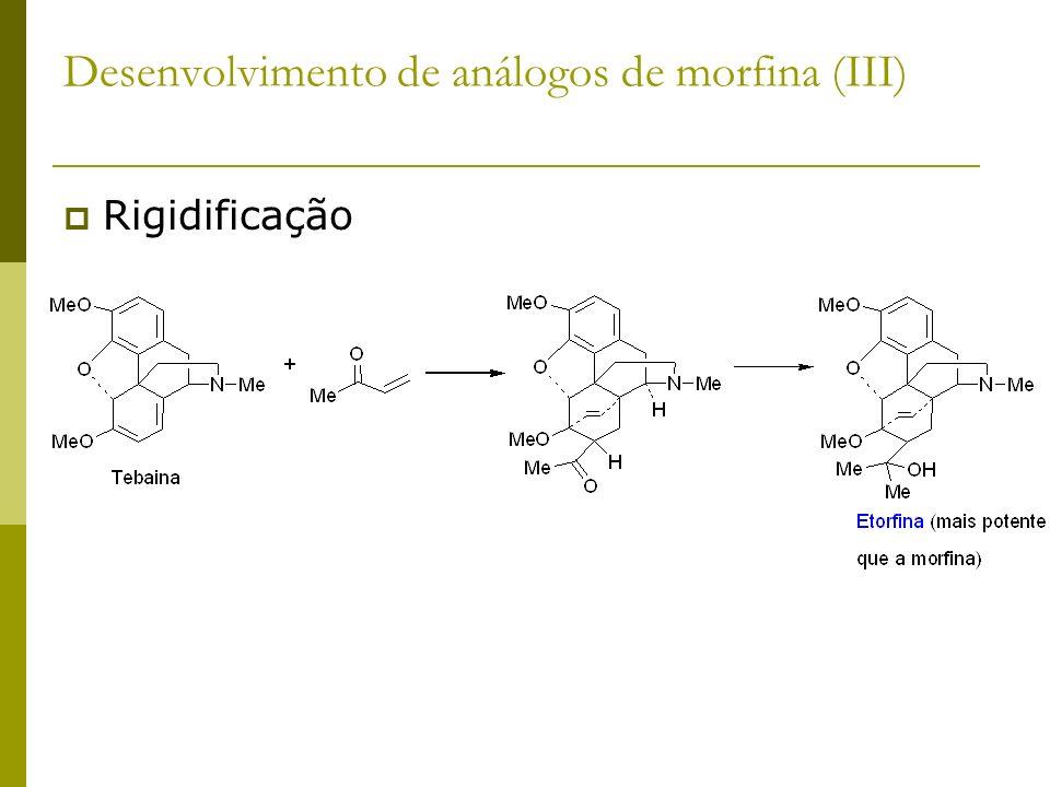 Rigidificação Desenvolvimento de análogos de morfina (III)