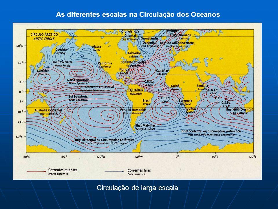 As diferentes escalas na Circulação dos Oceanos Circulação de larga escala