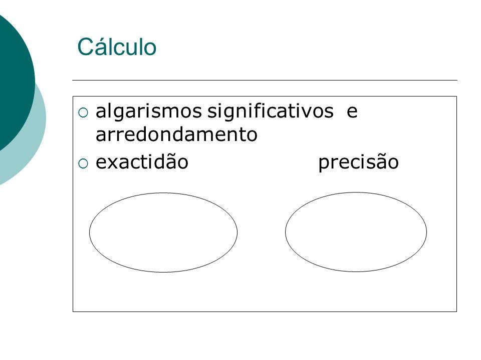 Cálculo algarismos significativos e arredondamento exactidão precisão