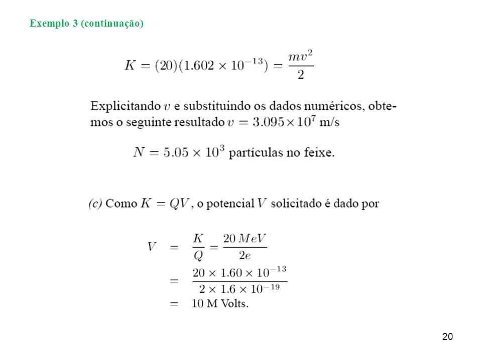 20 Exemplo 3 (continuação)