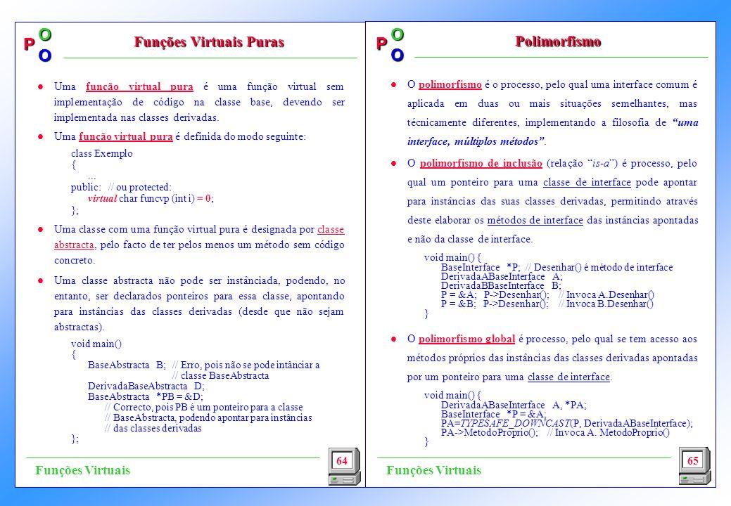 P OO P OO l O polimorfismo é o processo, pelo qual uma interface comum é aplicada em duas ou mais situações semelhantes, mas técnicamente diferentes,