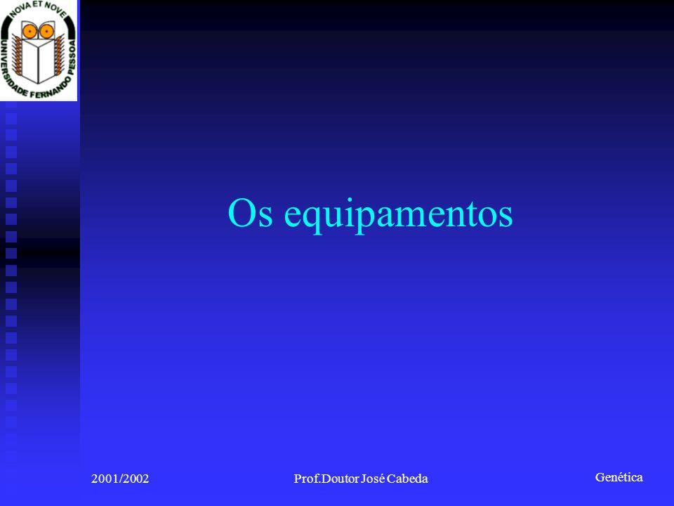 Genética 2001/2002Prof.Doutor José Cabeda Os equipamentos