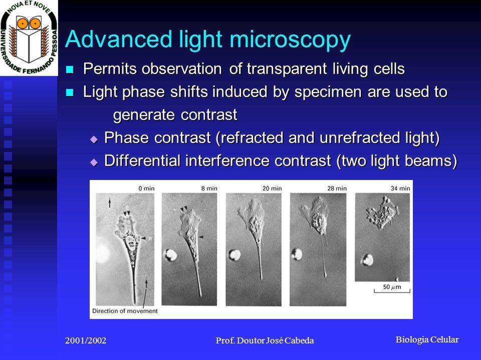 Biologia Celular 2001/2002Prof.