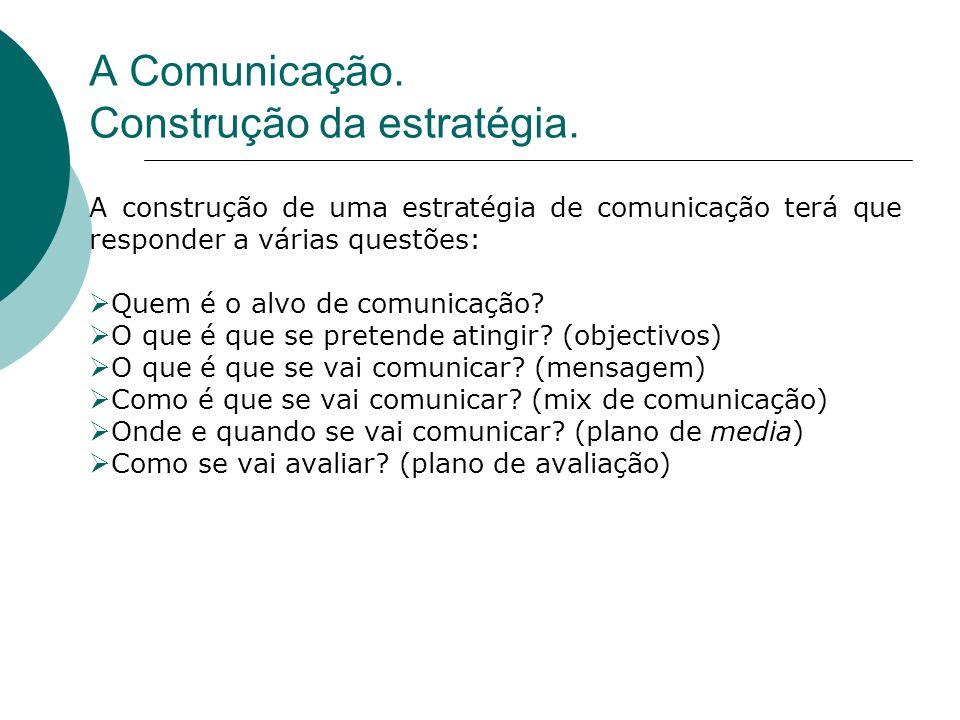 A construção de uma estratégia de comunicação terá que responder a várias questões: Quem é o alvo de comunicação? O que é que se pretende atingir? (ob