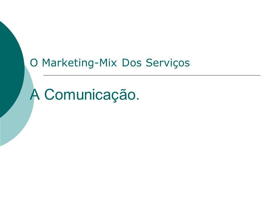 A Comunicação. O Marketing-Mix Dos Serviços