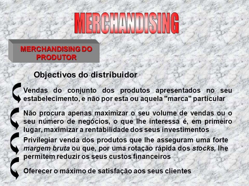 MERCHANDISING DO PRODUTOR Vendas do conjunto dos produtos apresentados no seu estabelecimento, e não por esta ou aquela