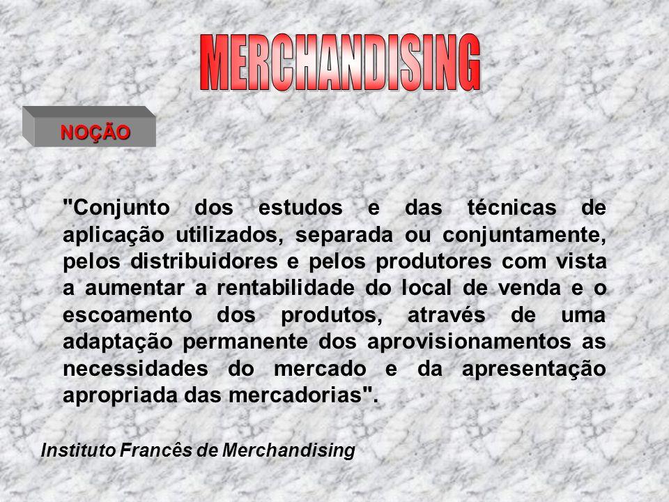 MERCHANDISING E GESTÃO DO PONTO DE VENDA merchandising de sedução merchandising de optimização Tem como objectivo desenvolver no cliente a tendência para as compras impulsivas Tem como objectivo a optimização da implantação dos produtos no linear - coerência do sortido merchandising de gestão Tem como objectivo a rentabilização máxima do espaço e do produto