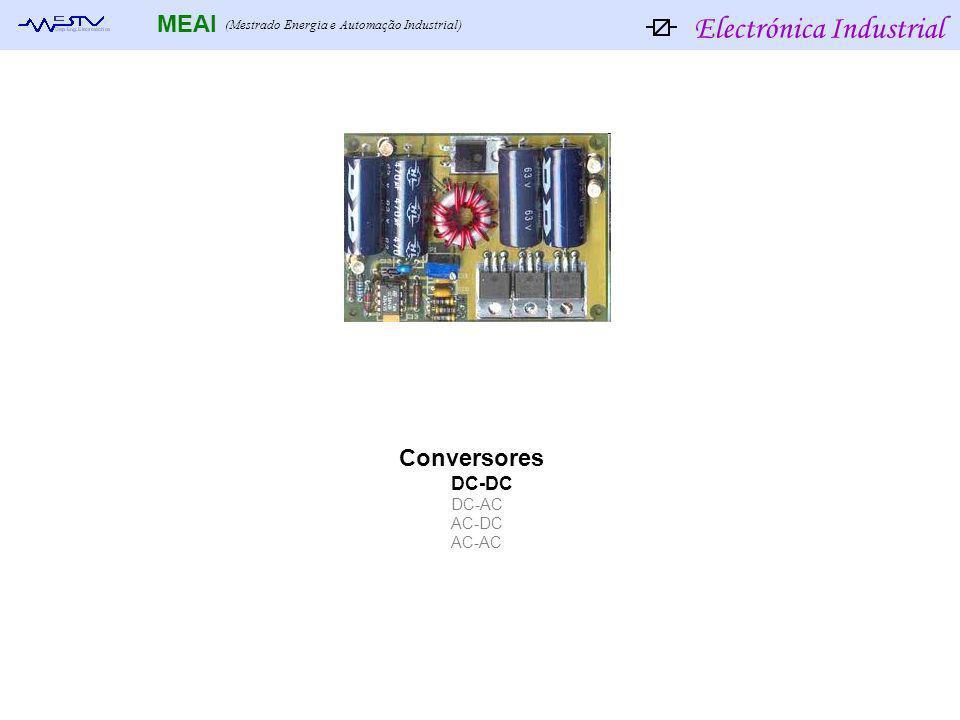 Electrónica Industrial MEAI (Mestrado Energia e Automação Industrial) Conversores DC-DC DC-AC AC-DC AC-AC