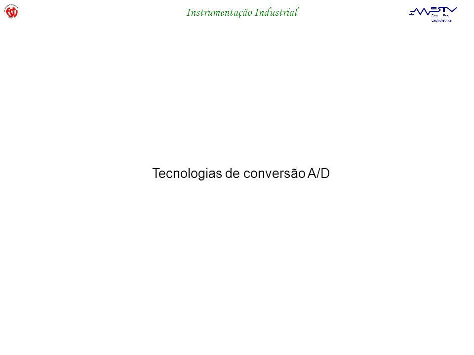 Instrumentação Industrial Dep. Eng. Electrotécnica Tecnologias de conversão A/D
