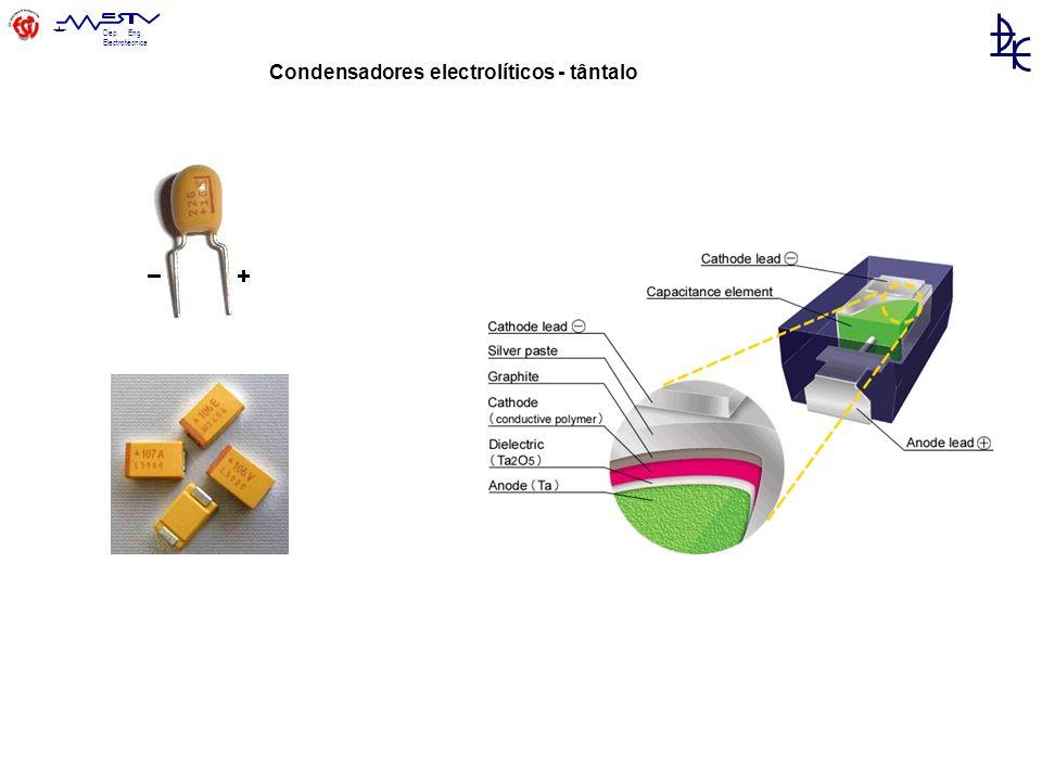 Dep. Eng. Electrotécnica Condensadores electrolíticos - tântalo