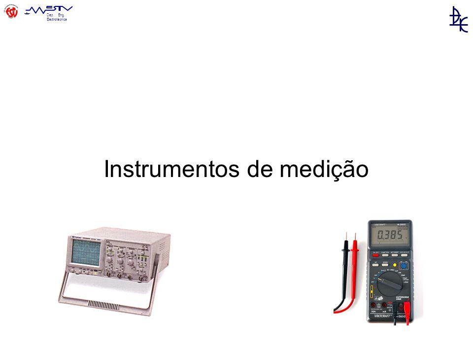 Dep. Eng. Electrotécnica Instrumentos de medição