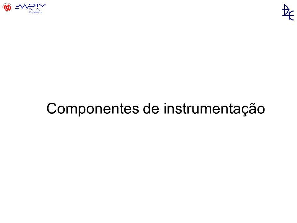 Dep. Eng. Electrotécnica Componentes de instrumentação