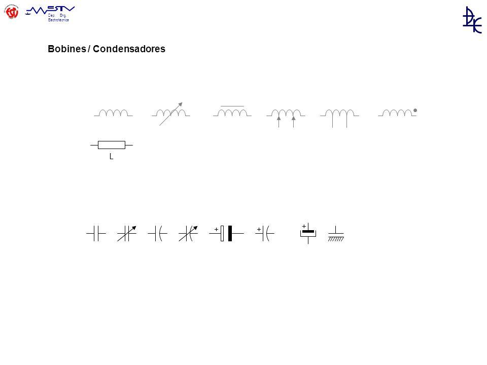 Dep. Eng. Electrotécnica ++ + L Bobines / Condensadores