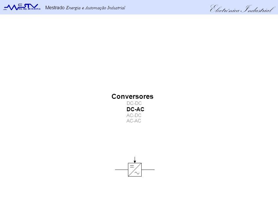 Electrónica Industrial Mestrado Energia e Automação Industrial Conversores DC-DC DC-AC AC-DC AC-AC