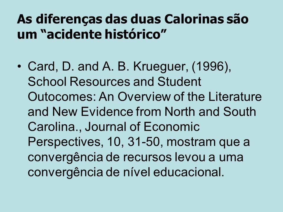 As diferenças das duas Calorinas são um acidente histórico Card, D.