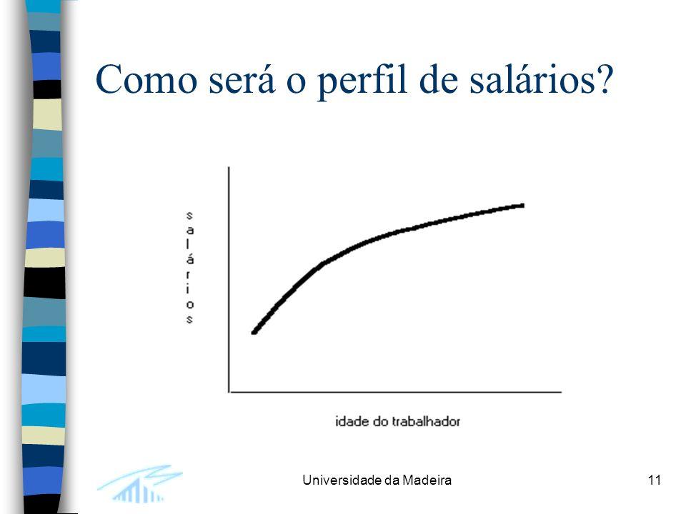 Universidade da Madeira11 Como será o perfil de salários?