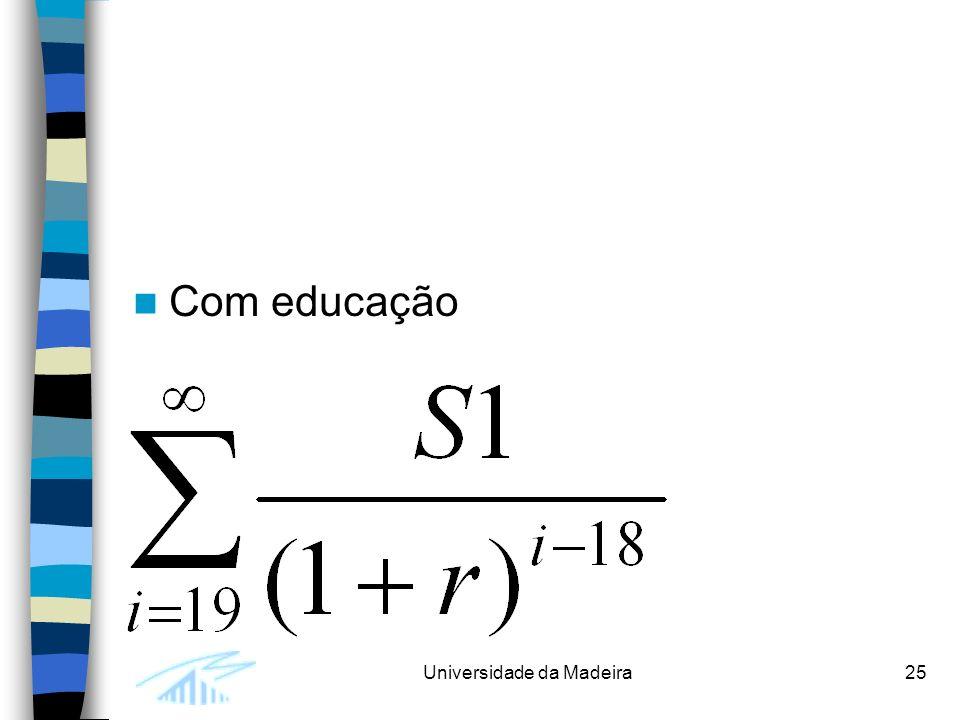 Universidade da Madeira25 Com educação