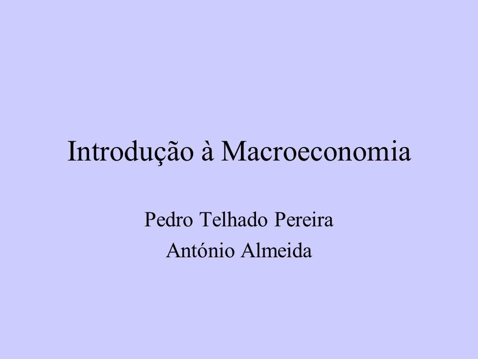 Introdução à Macroeconomia Pedro Telhado Pereira António Almeida