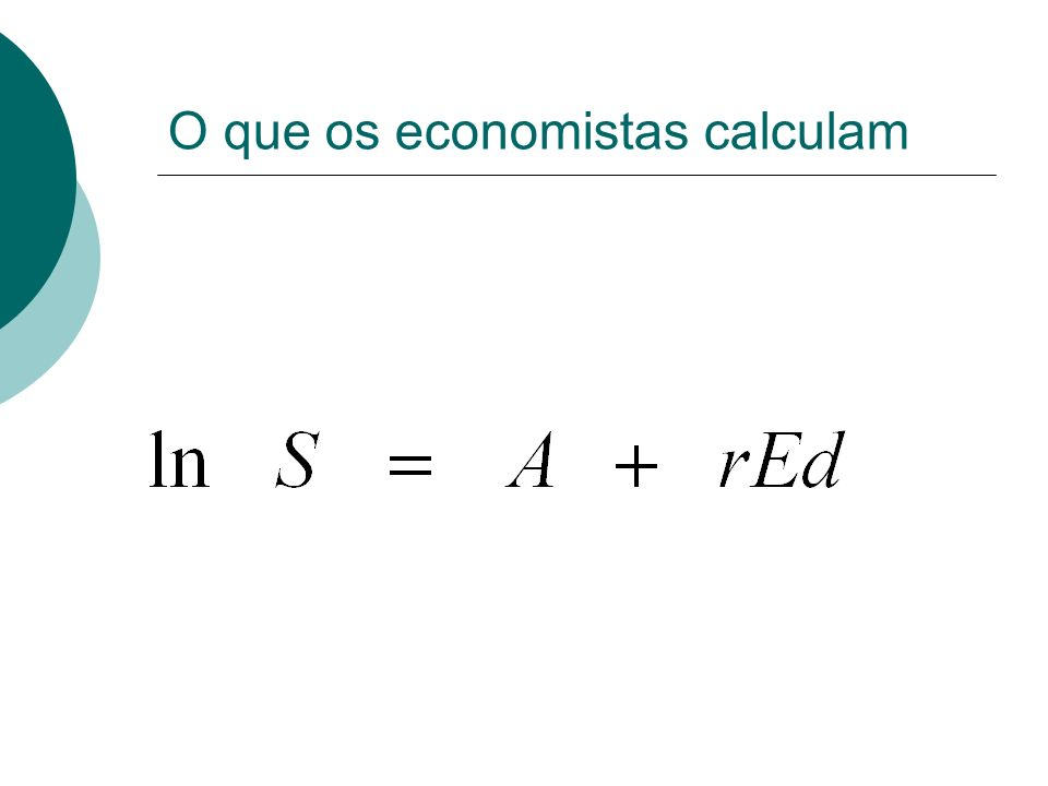 O que os economistas calculam