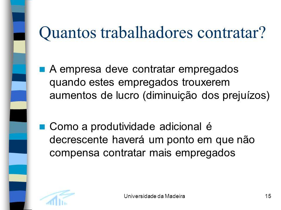 Universidade da Madeira15 Quantos trabalhadores contratar.