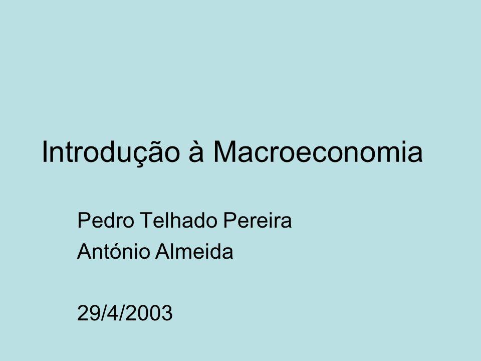Introdução à Macroeconomia Pedro Telhado Pereira António Almeida 29/4/2003